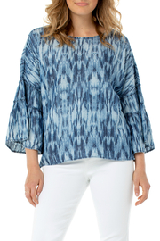 Liverpool Ruffle Bell Sleeve Top - Product Mini Image