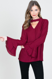 Les Amis Ruffle Bell Sleeve Top - Product Mini Image