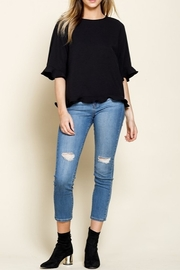Mittoshop RUFFLE BELL SLEEVE WOVEN TOP - Side cropped