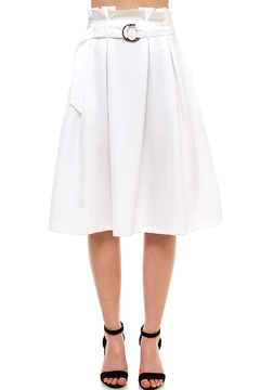 Shoptiques Product: Ruffle Belted Skirt