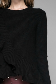 Do & Be Ruffle Black Sweater - Product Mini Image