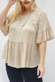 Lyn-Maree's  Ruffle Bottom Blouse - Front cropped