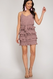 She + Sky Ruffle Bottom Dress - Product Mini Image