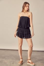 Mustard Seed  Ruffle Bottom Romper - Front cropped