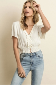 dress forum Mini Ruffle Blouse - Front cropped