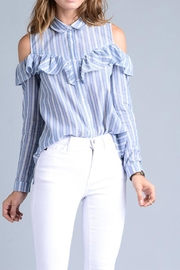 Potter's Pot Ruffle Button Down - Front cropped