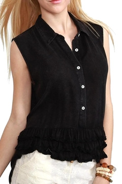 Shoptiques Product: Ruffle Button-Down Top