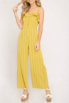 She + Sky Ruffle Button Jumpsuit - Product List Image