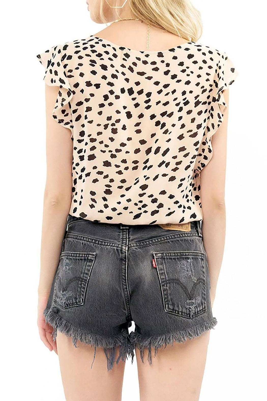 Saltwater Luxe Ruffle Button Top - Side Cropped Image