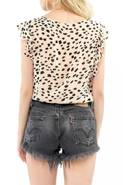 Saltwater Luxe Ruffle Button Top - Side cropped