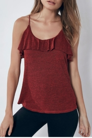 Lanston Ruffle Cami Chile - Front cropped