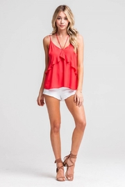 Lush Ruffle Camisole Blouse - Front cropped