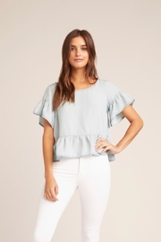 BB Dakota Ruffle Chambray Top - Product Mini Image