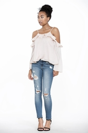 Ark & Co. Ruffle Cold Shoulder - Front full body