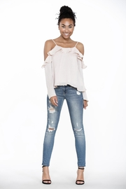 Ark & Co. Ruffle Cold Shoulder - Side cropped