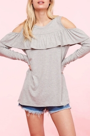 Fantastic Fawn Ruffle Cold Shoulder - Product Mini Image