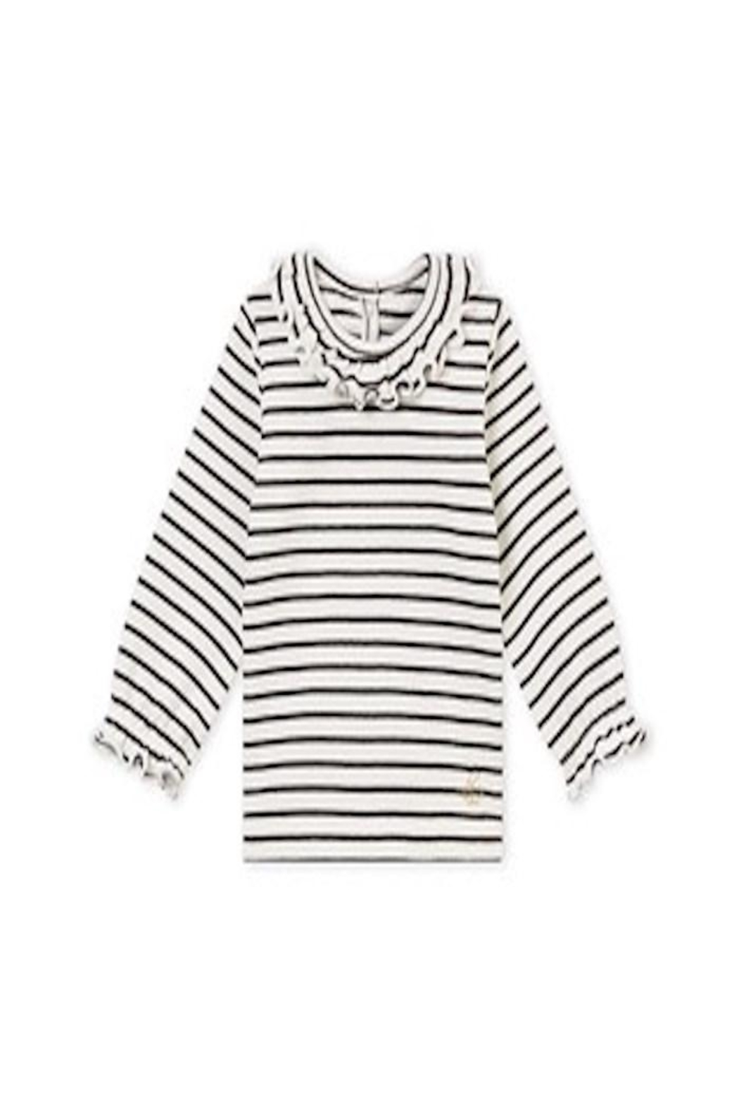 Petit Bateau Ruffle Collar Tee - Front Cropped Image