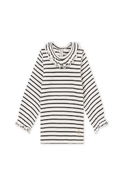 Petit Bateau Ruffle Collar Tee - Front cropped
