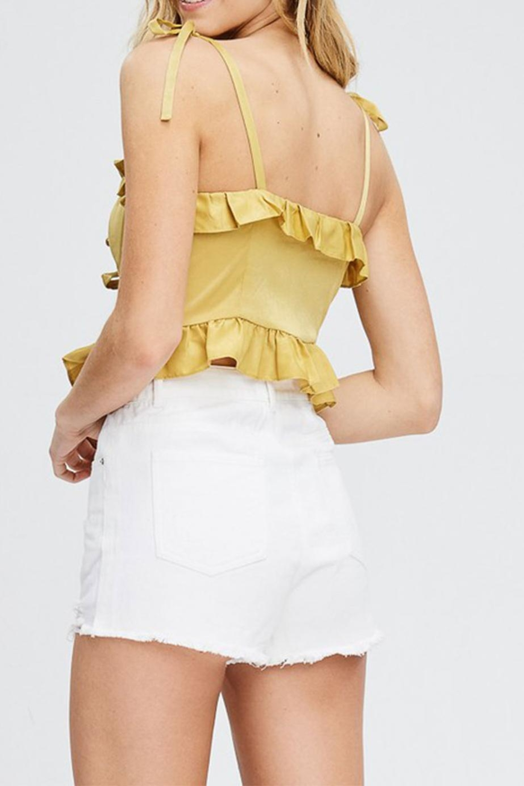 Emory Park Ruffle Crop Top - Side Cropped Image