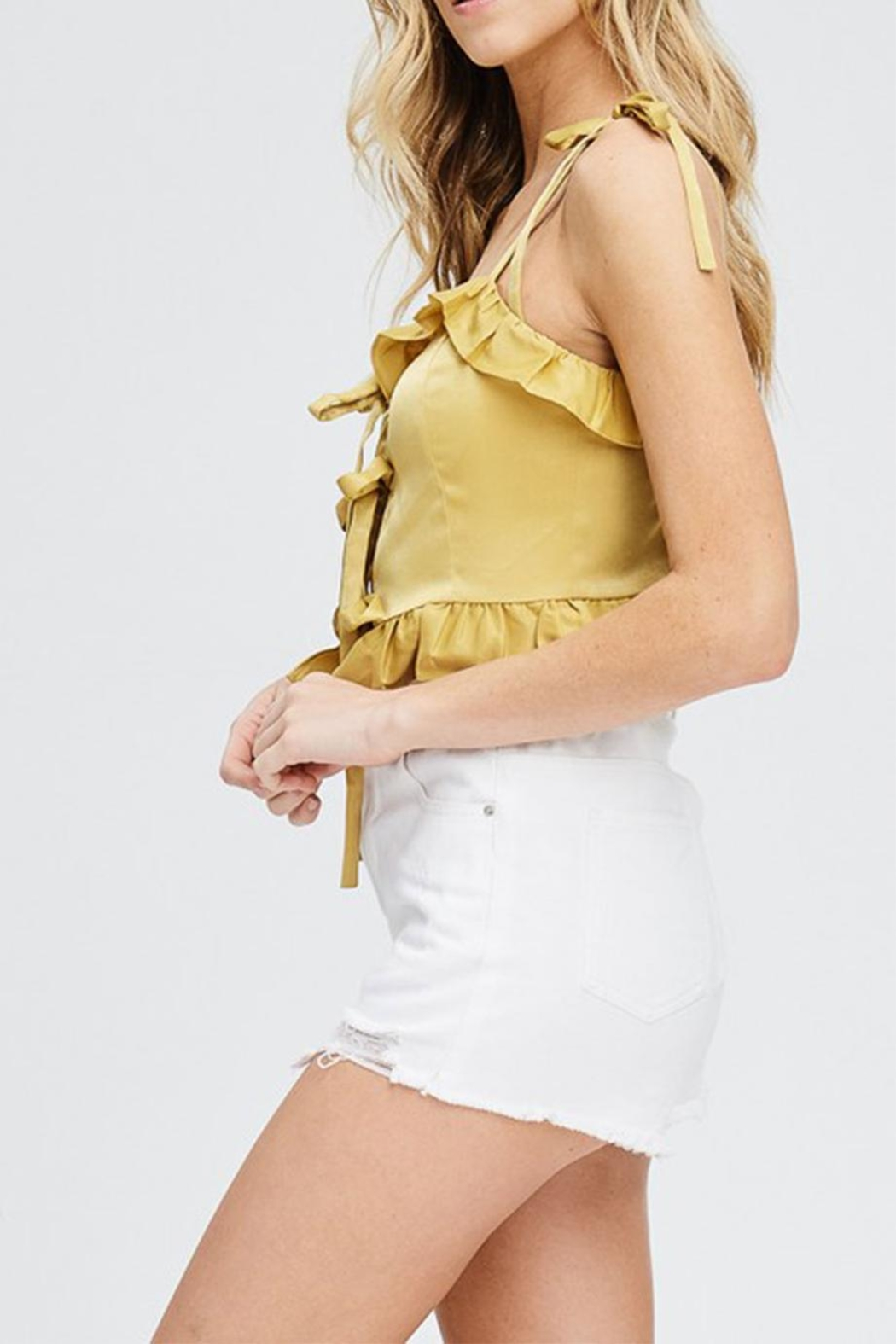 Emory Park Ruffle Crop Top - Front Full Image