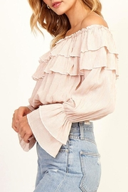 Olivaceous Ruffle Crop Top - Product Mini Image