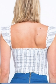 TIMELESS Ruffle Crop Top - Side cropped