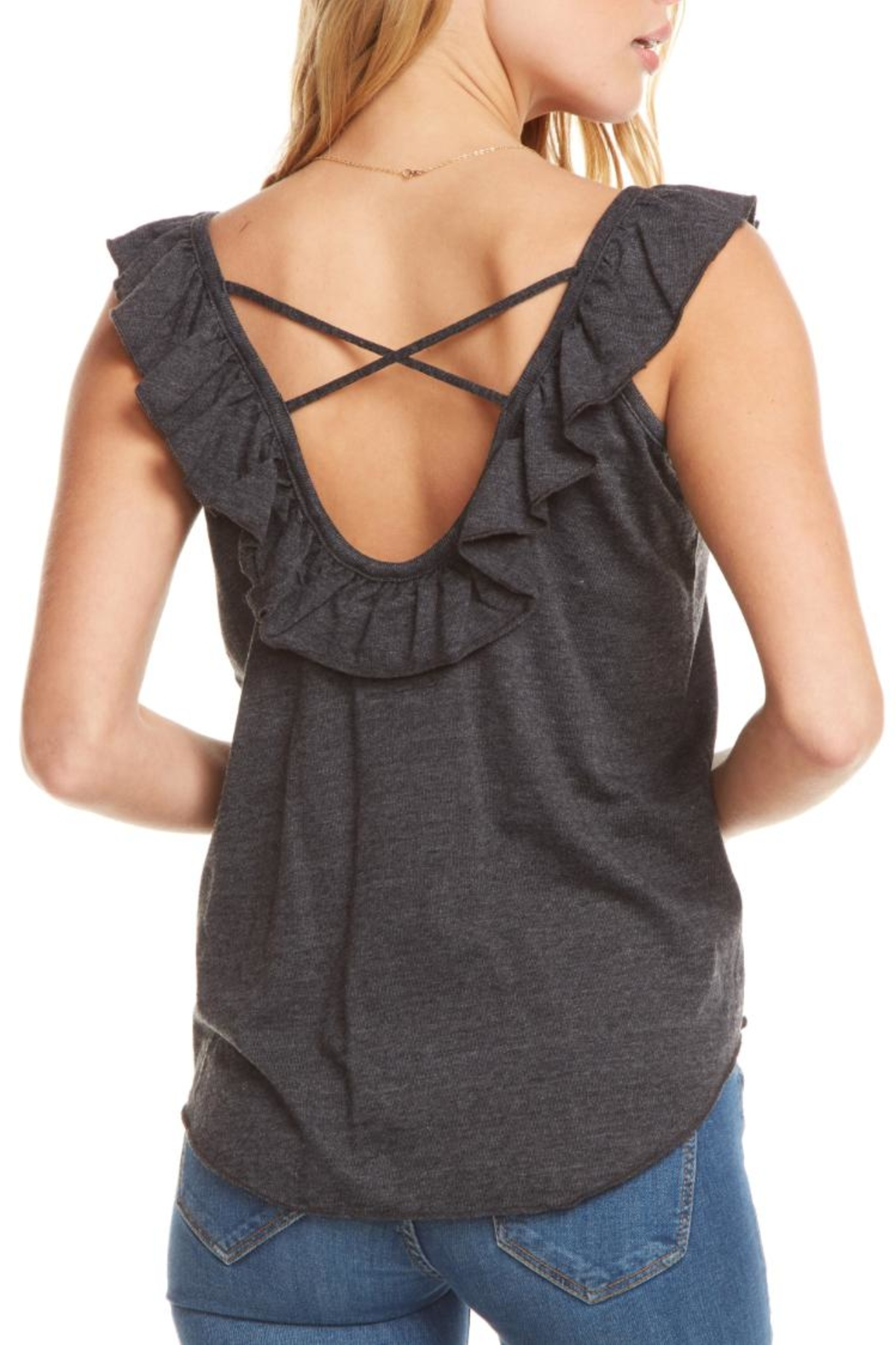 Chaser Ruffle Crossback Tank - Front Full Image