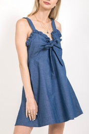 Very J Ruffle Denim Dress - Product Mini Image