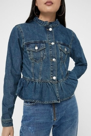 Vero Moda Ruffle Denim Jacket - Product Mini Image