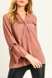 Doe & Rae Ruffle Detail Blouse - Product Mini Image