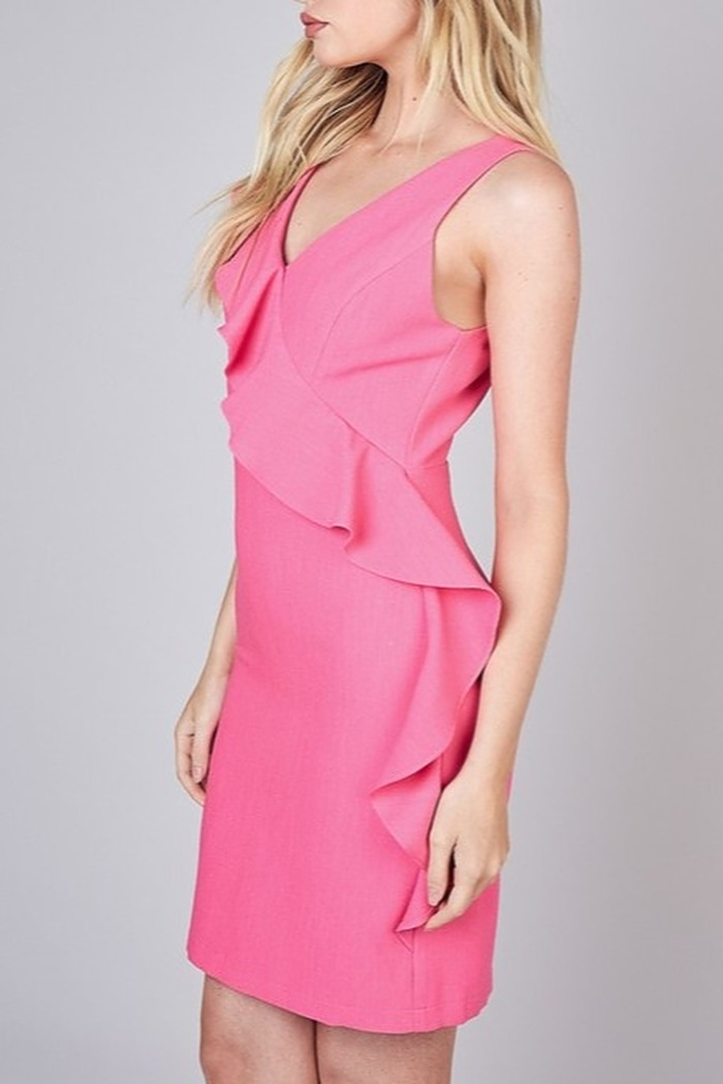 Do & Be Ruffle Detail Dress - Front Full Image