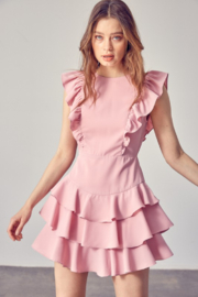 Idem Ditto  Ruffle Detail Dress - Front cropped