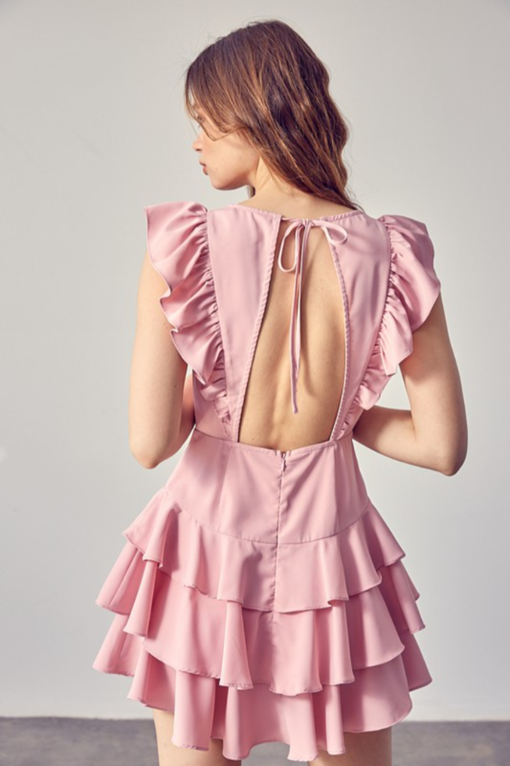 Idem Ditto  Ruffle Detail Dress - Side Cropped Image
