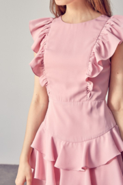 Idem Ditto  Ruffle Detail Dress - Back cropped