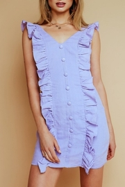Olivaceous Ruffle Detail Dress - Front cropped