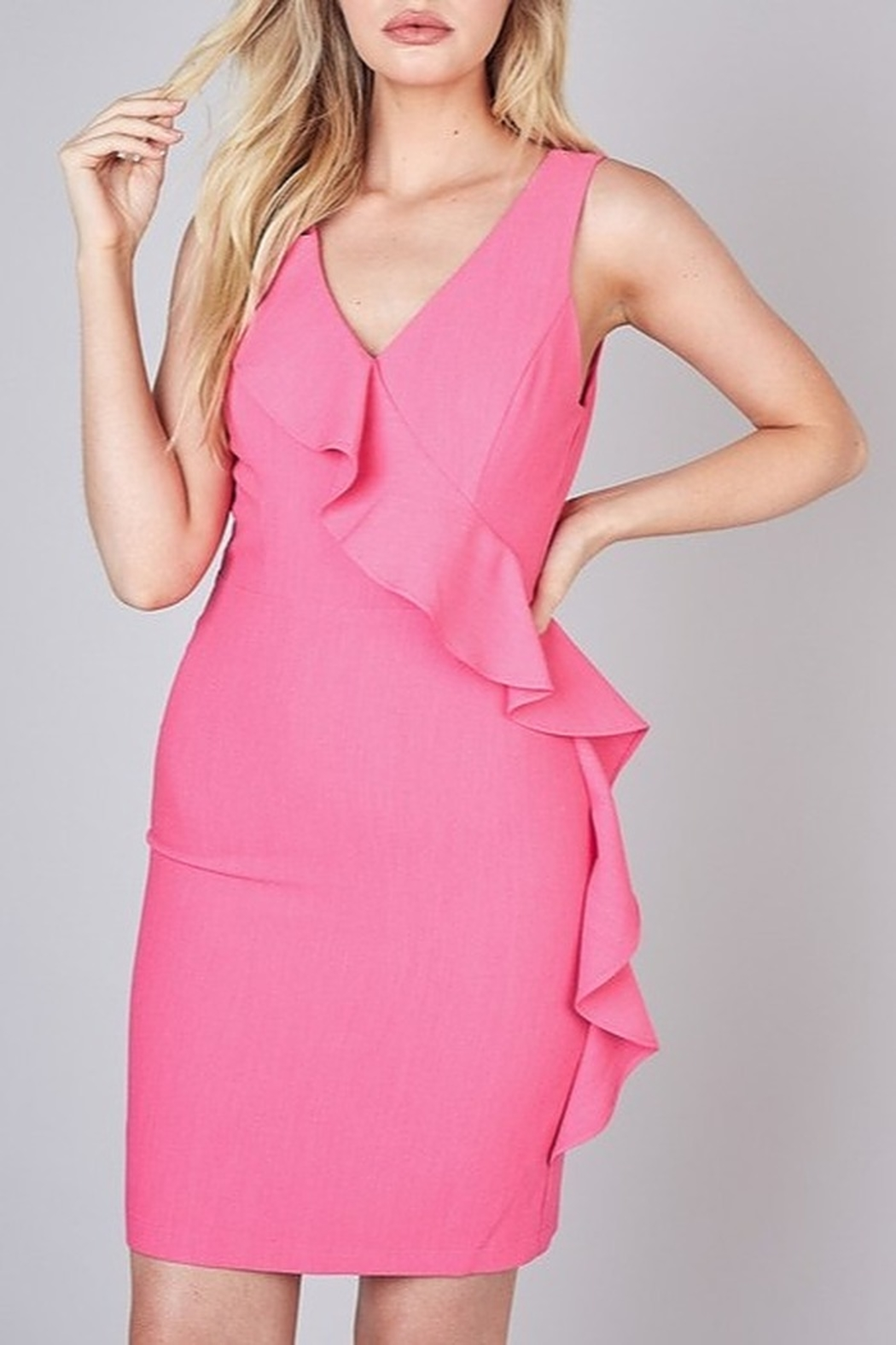 Do & Be Ruffle Detail Dress - Front Cropped Image