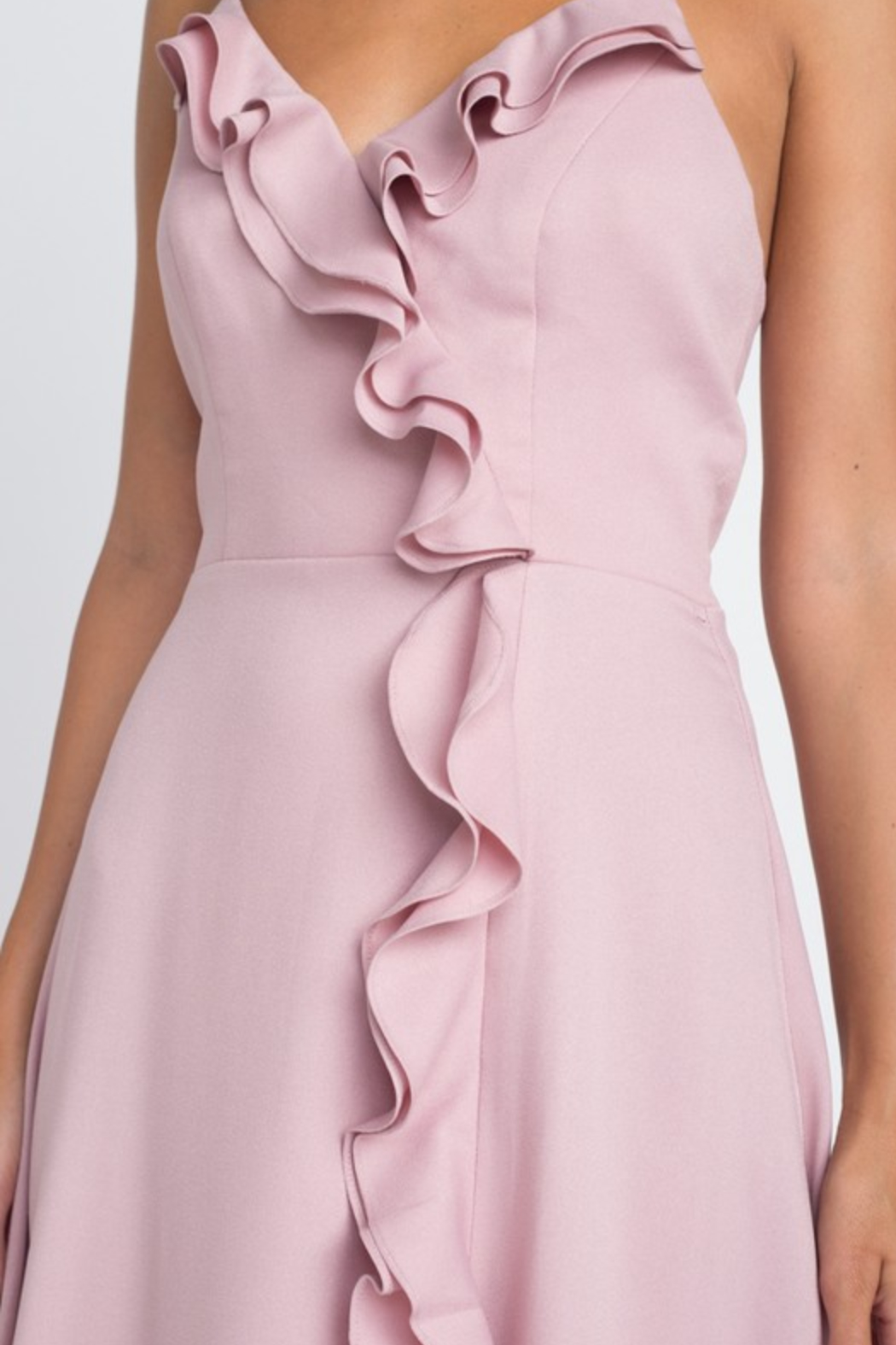 Minuet Ruffle Detail Gown - Side Cropped Image