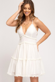 She and Sky Ruffle Detail Mini - Front cropped