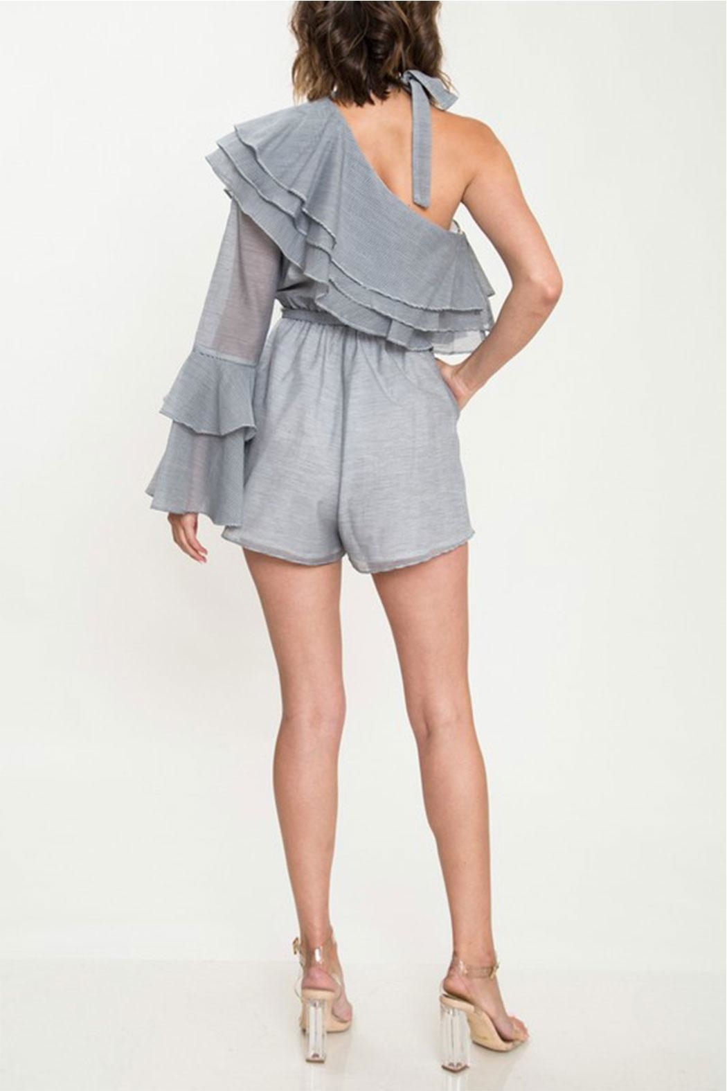 L'atiste Ruffle Detail Romper - Side Cropped Image