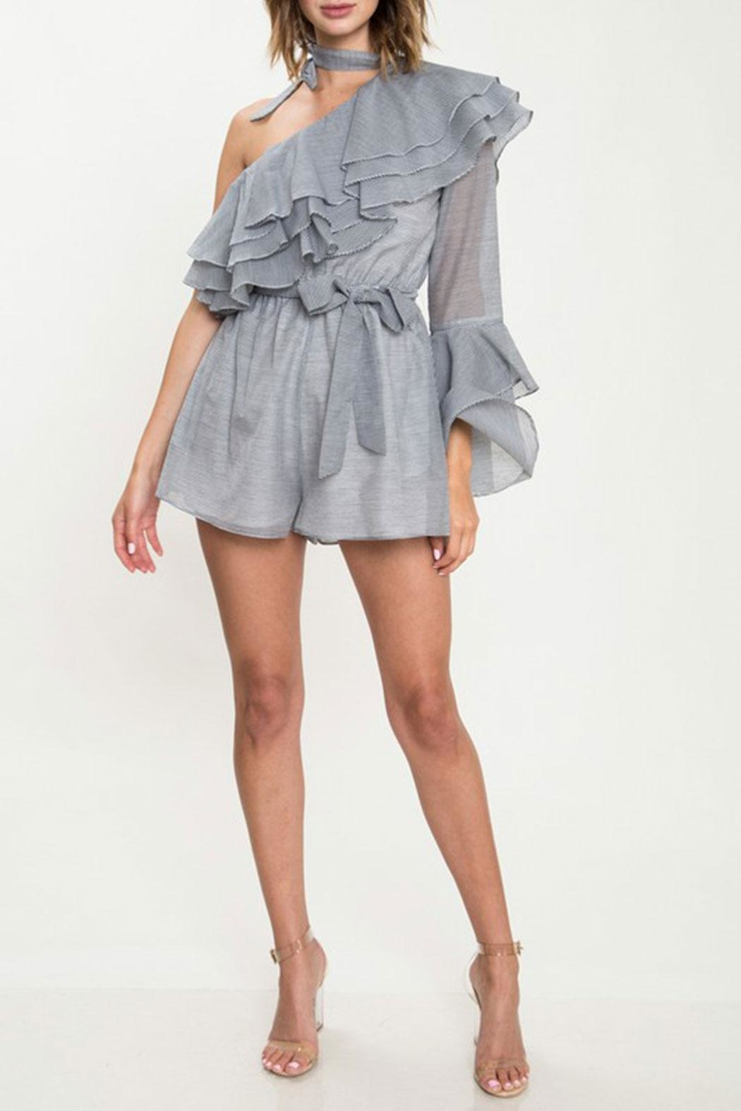 L'atiste Ruffle Detail Romper - Front Cropped Image
