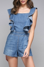 Do & Be Denim Ruffle Detail Romper - Product Mini Image
