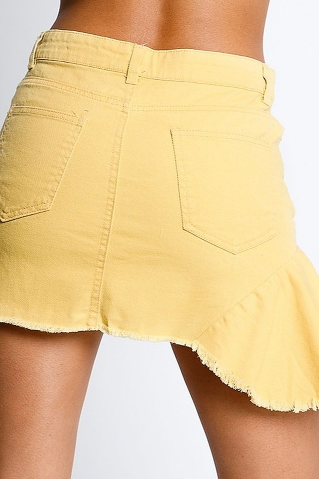 Rousseau Ruffle Detail Skirt - Side Cropped Image