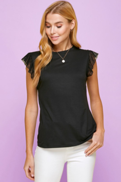 Les Amis Ruffle Detail Sleeveless Top - Product List Image