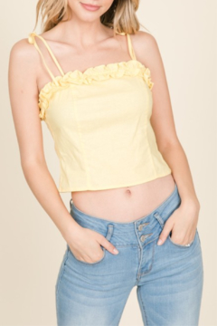 Lumiere Ruffle Detail Tank - Product List Image