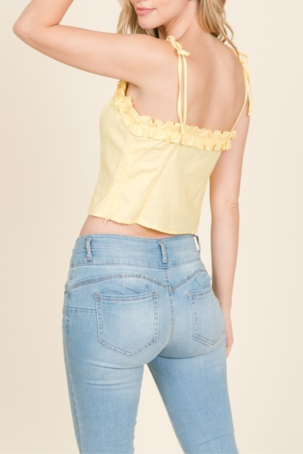 Lumiere Ruffle Detail Tank - Front Full Image