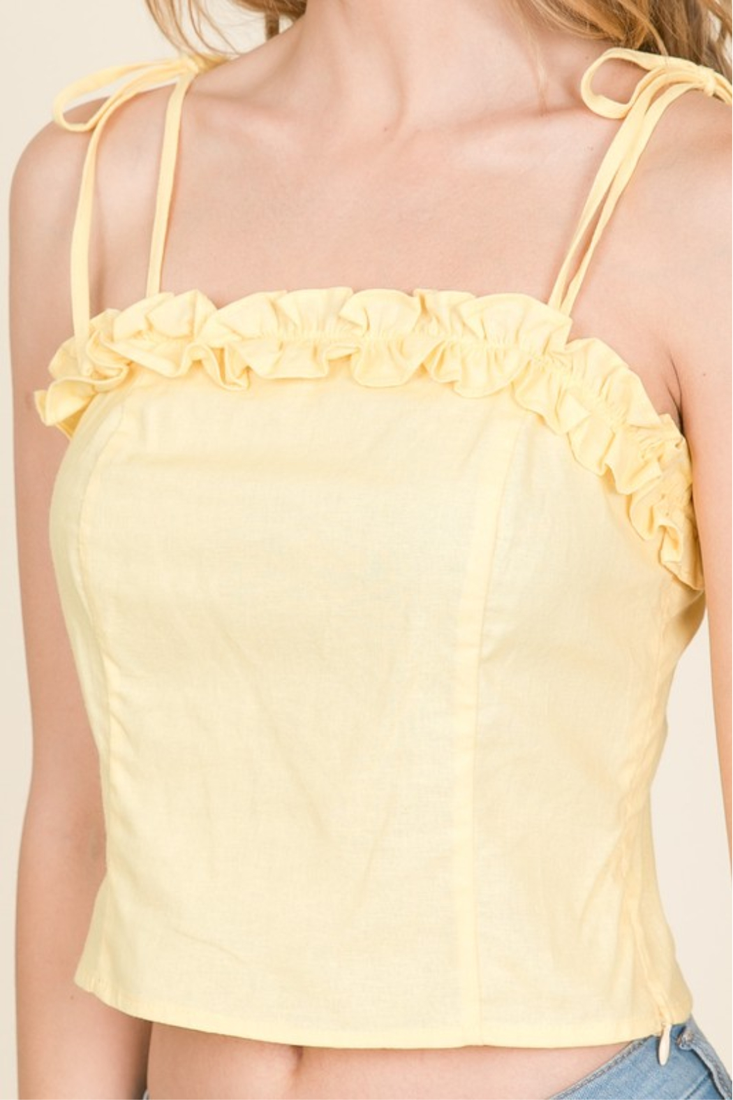 Lumiere Ruffle Detail Tank - Side Cropped Image