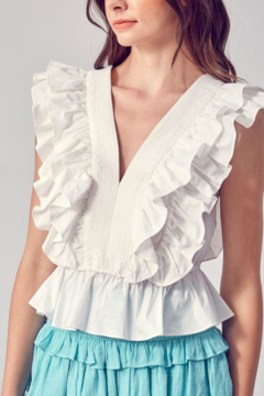 Do + Be  Ruffle Detail Top - Product List Image