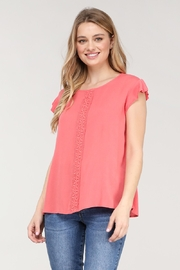 Ninexis RUFFLE DETAILED ROUND NECK TOP - Product Mini Image