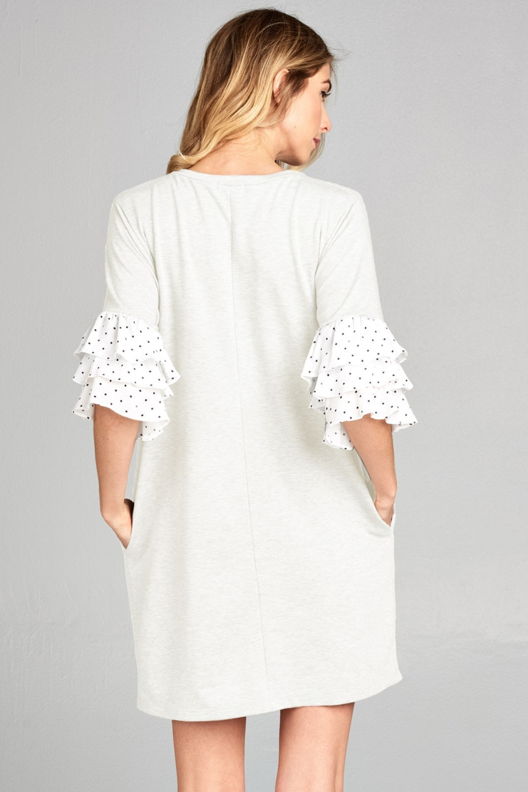 Nu Label Ruffle Dots - Front Full Image