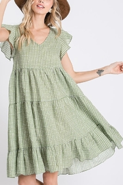 Ces Femme  Ruffle Dotty Dress - Front cropped
